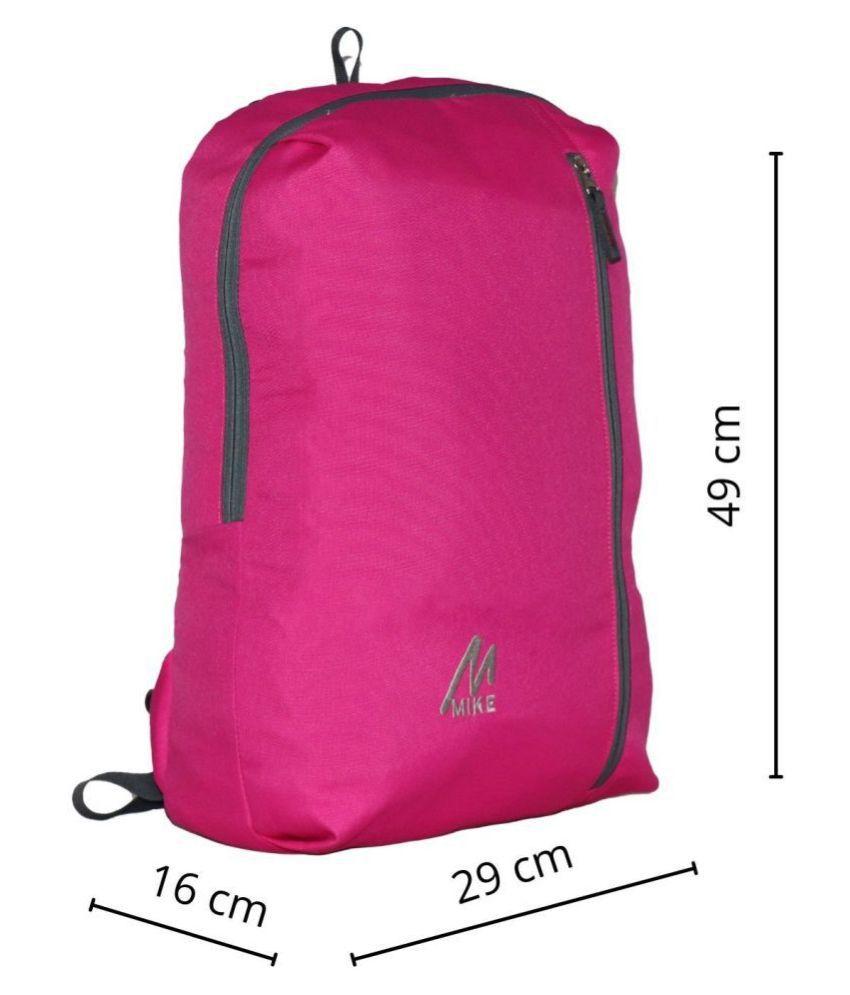 MIKE DARK Pink Backpack