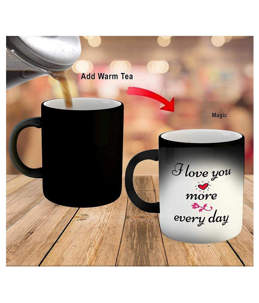 SOUVENIR GIFTS BY BSS MAGIC MUG Ceramic Coffee Mug 1 Pcs 325 mL
