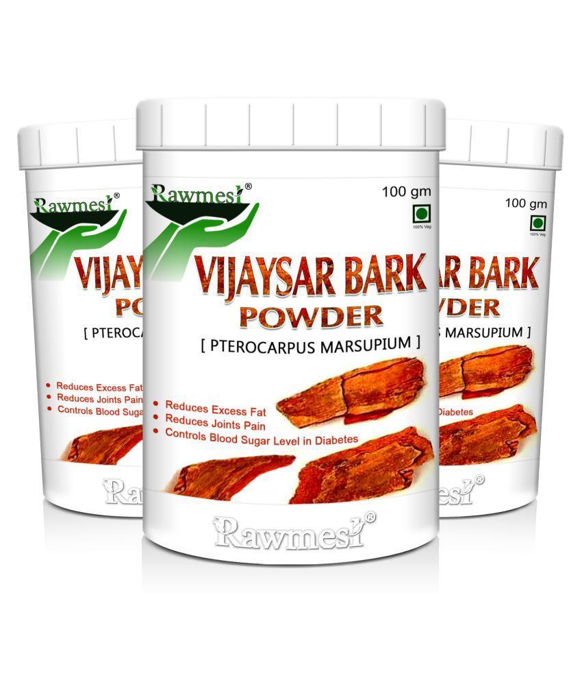 rawmest Vijaysar Bark Powder 300 gm Pack of 3