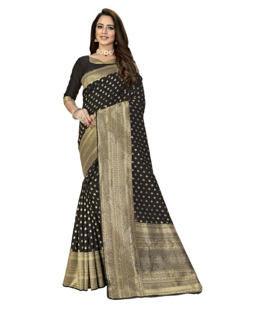 Sherine Black Banarasi Silk Saree
