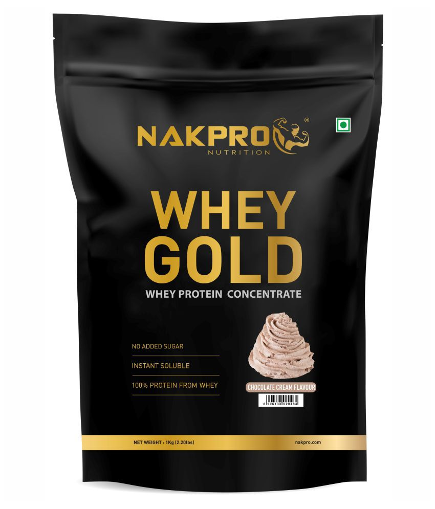 NAKPRO GOLD 100% Whey Protein Concentrate 1 kg