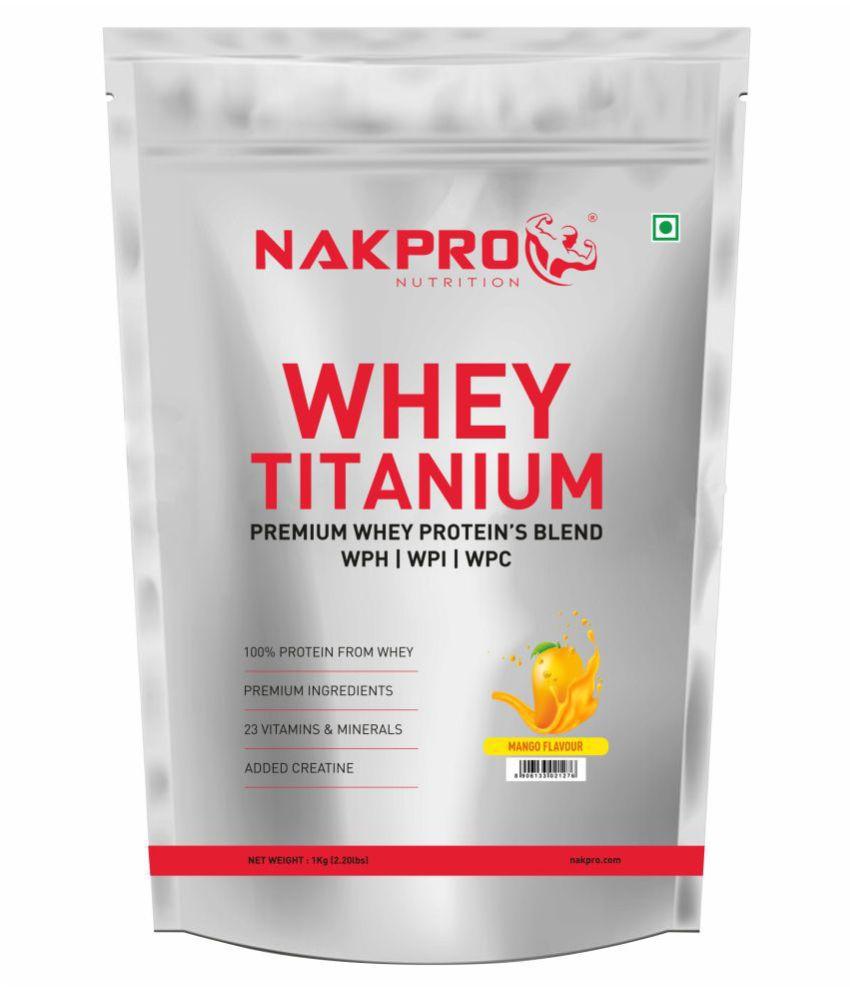 NAKPRO TITANIUM Tri Blend Whey Protein 1 kg