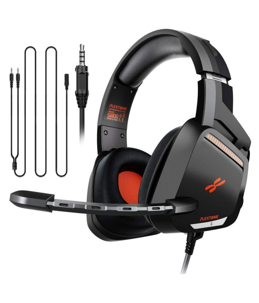 Plextone G800 Gaming Headset Over Ear Wired With Mic Headphones/Earphones