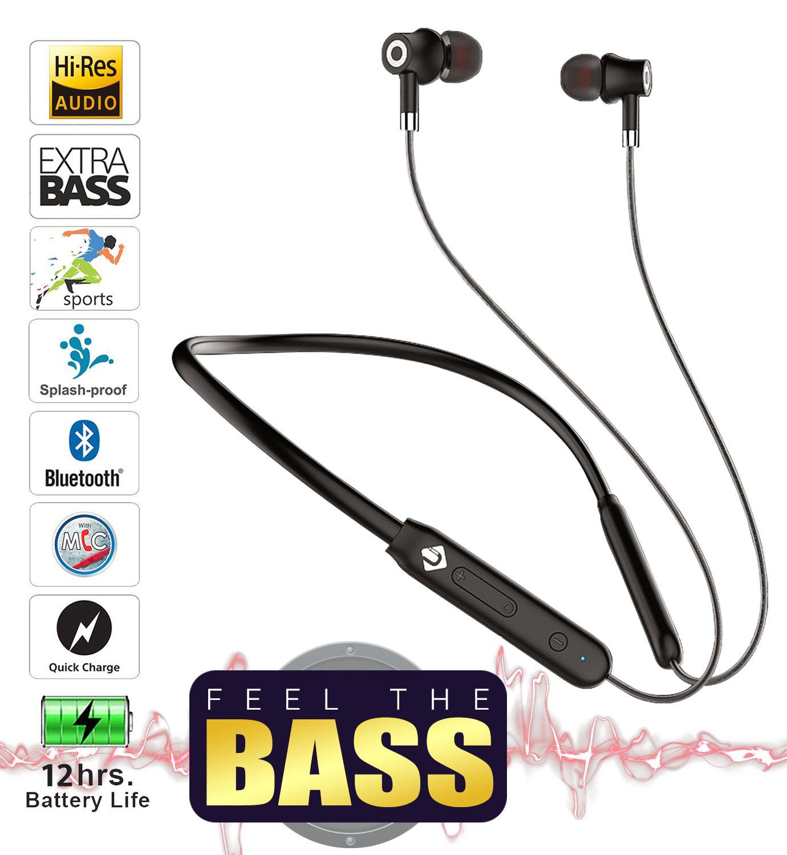 TUNE AUDIO U&I SOLID 12 HOURS MUSIC PLAYBACK IPX4 4D BASS SPORT Bluetooth headphone / Bluetooth earphone Magnetic bluetooth