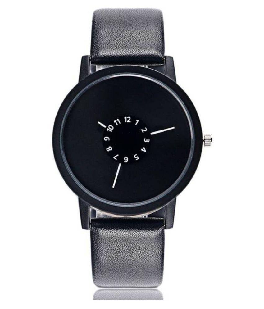 ZRED LIFESTYLE BLK CHKRI 01 Leather Analog Men #039;s Watch