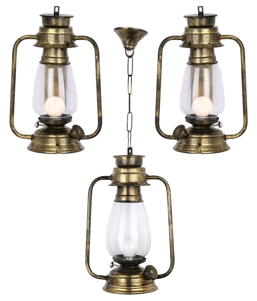 AFAST Decorative Wall Lamp Light Glass Wall Light Gold - Pack of 3