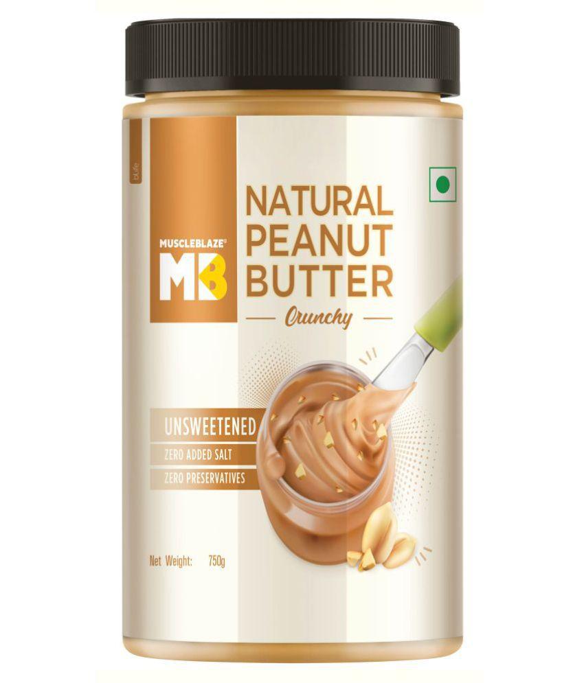 MuscleBlaze Natural Peanut Butter 750g Crunchy