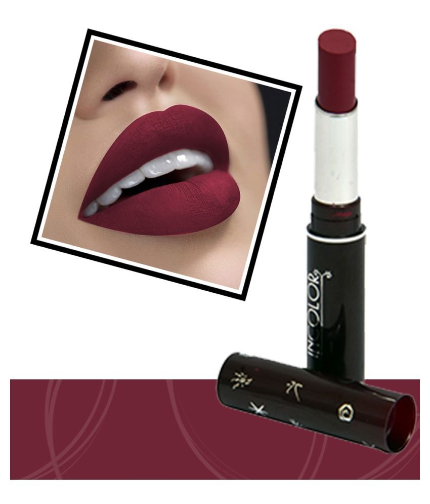 Incolor Long Lasting 801 Lipstick Maroon 2.3 g