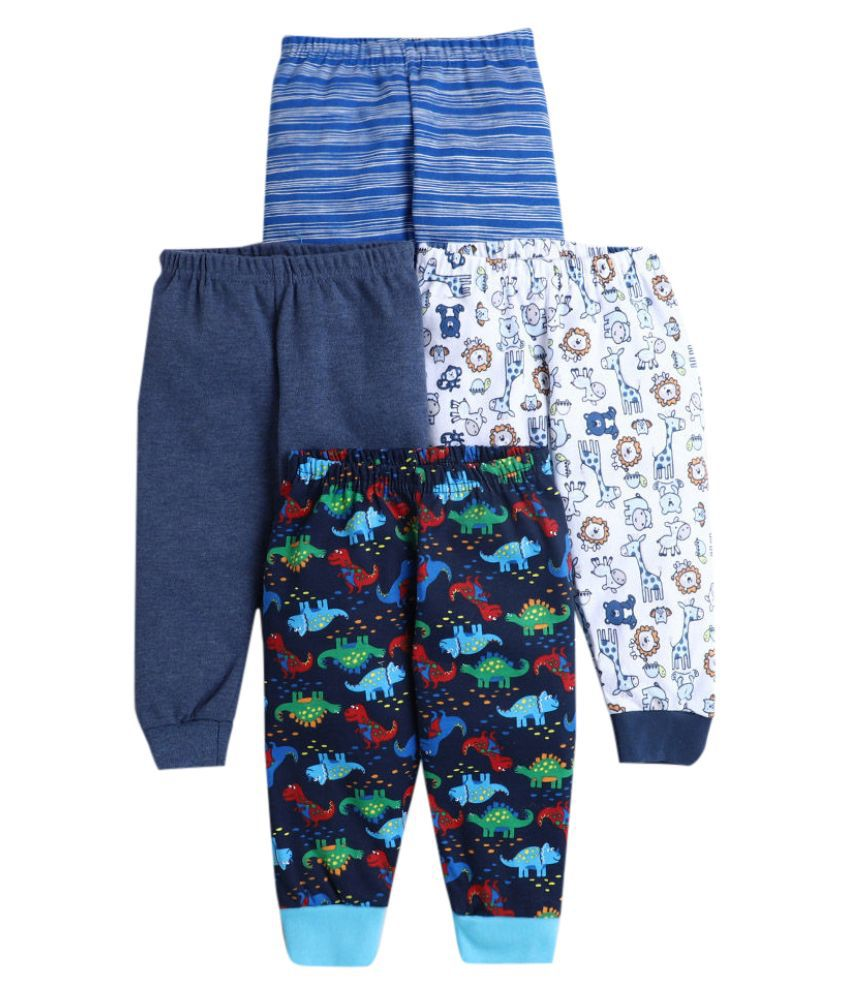 Hopscotch Baby Boys Cotton Prints Joggers Pack Of 4 in Multi Color For Ages 18-24 Months (JJS-3676154)