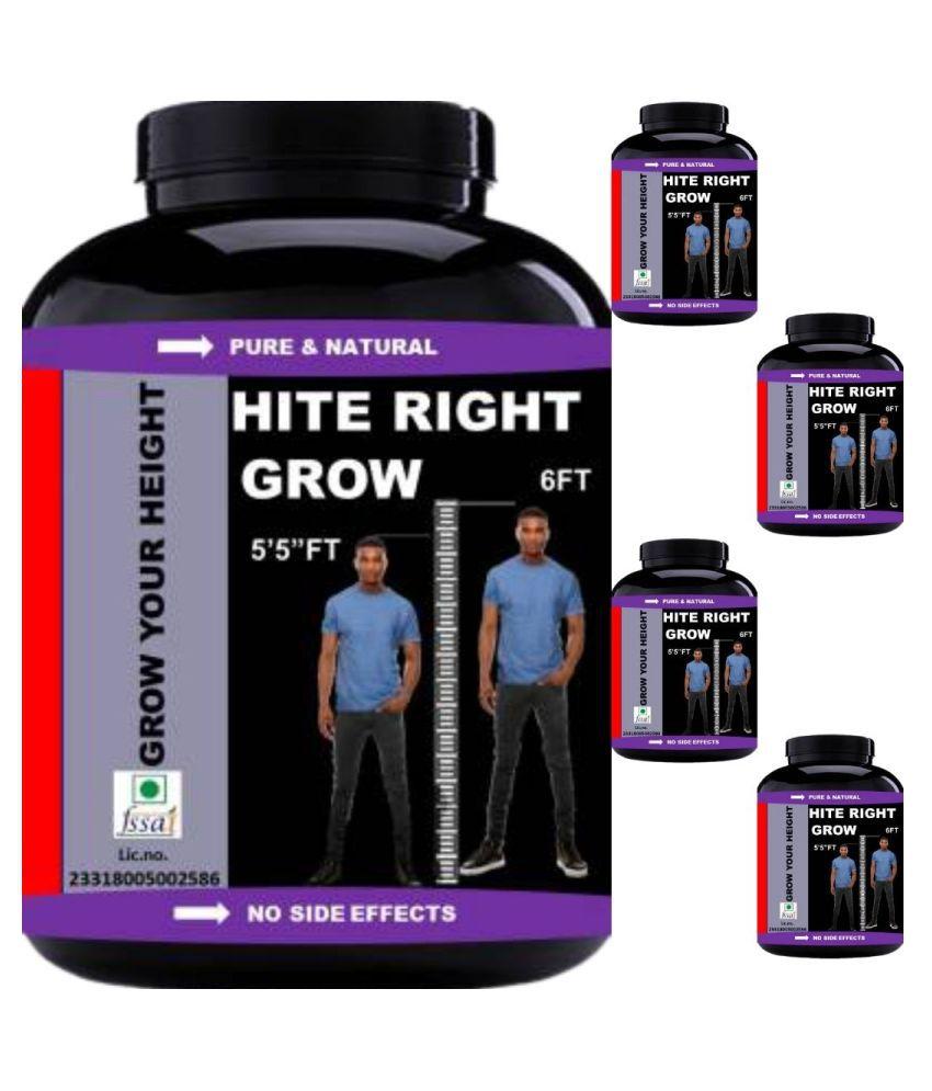 VITARA HEALTHCARE hite right grow plain flavor 0.5 kg Powder Pack of 5