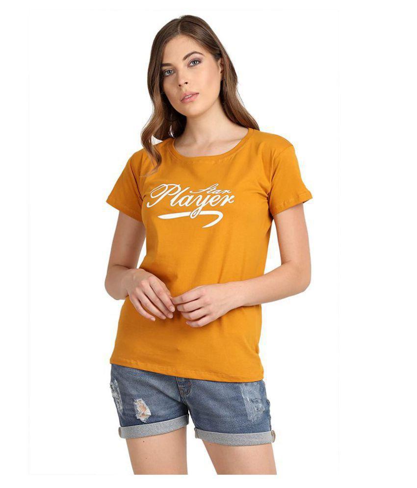 Broadstar Cotton Yellow T-Shirts - Single