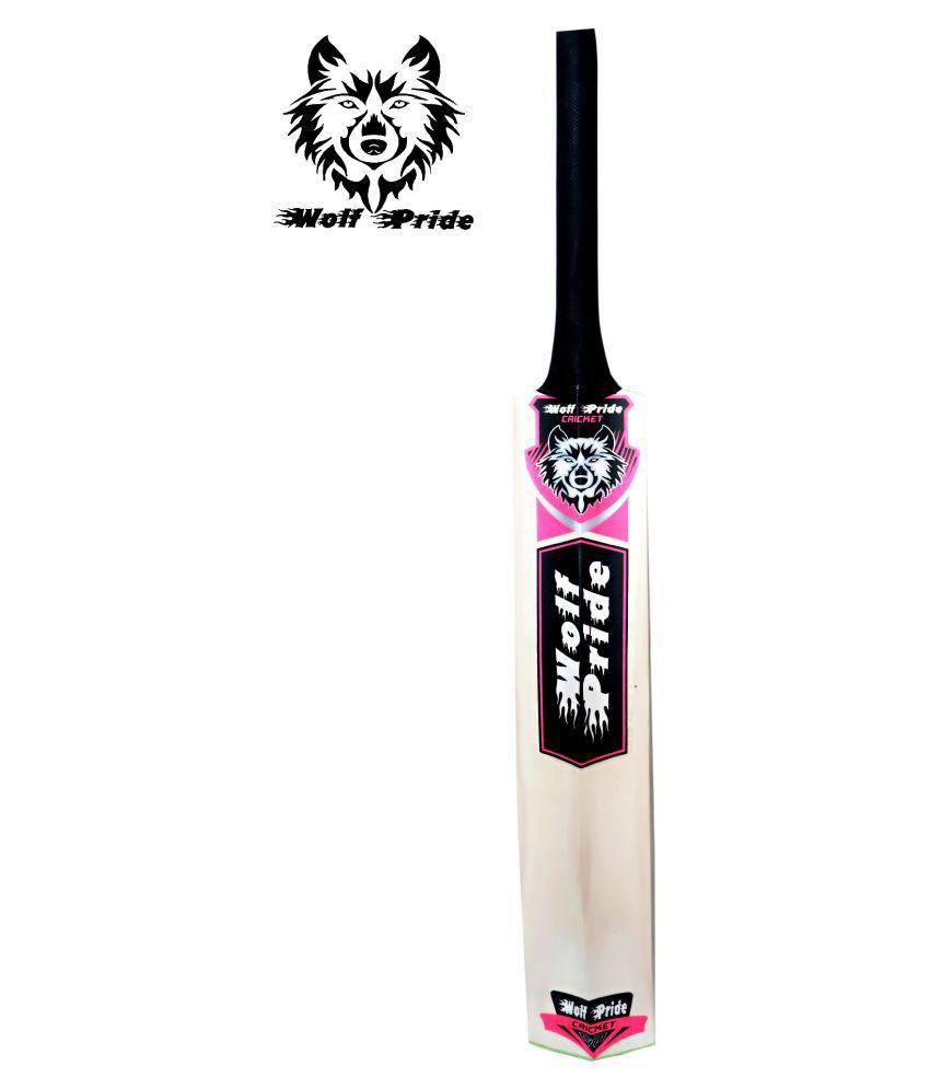 WOLF PRIDE Super Power Pink Poplar Willow Cricket Bat (.900g)