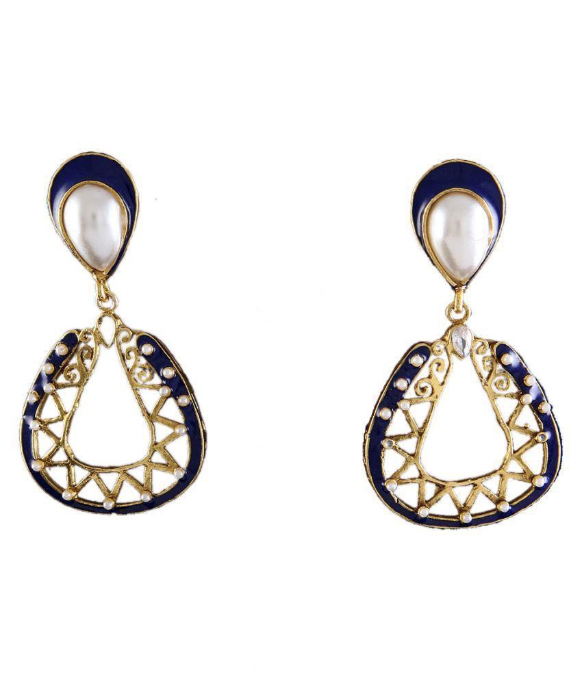 Chandlier Earrings Gold Plated CZ Studded CZ Modish Chandlier Earrings Gold Plated CZ Studded for Women and Girls Modish