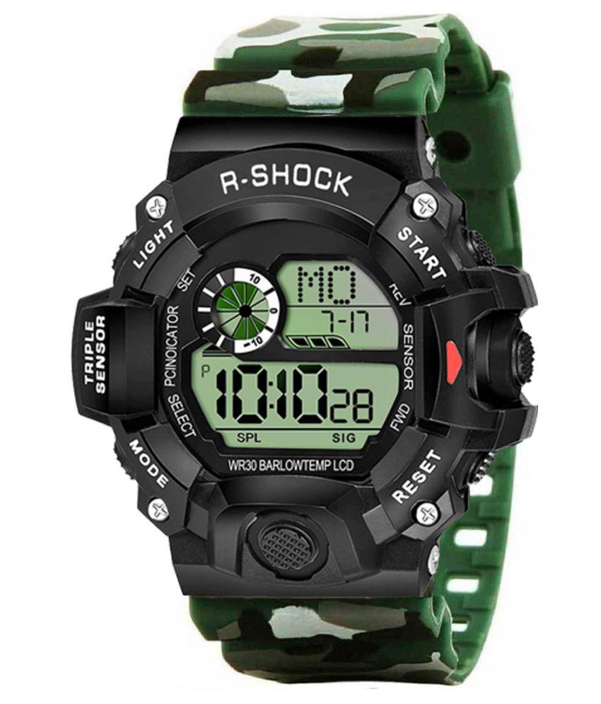 Redux DG092 Green Resin Digital Men #039;s Watch