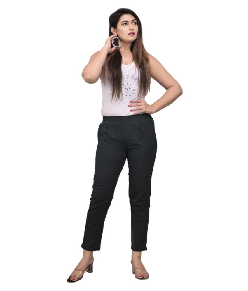 Alexa eva Cotton Cigarette Pants