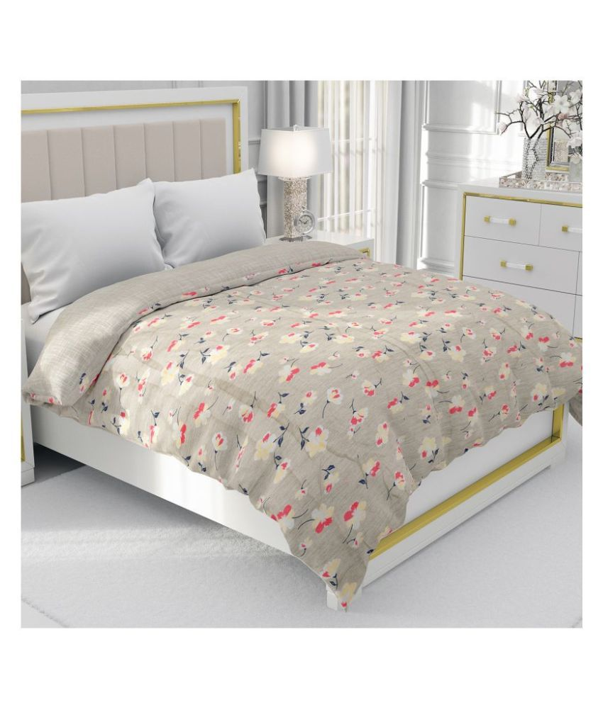 BE WANGLE Double Cotton Green Floral Dohar