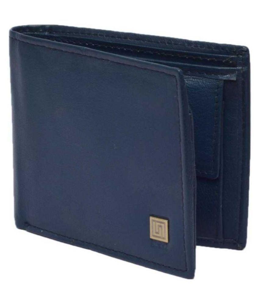 U+N Leather Blue Formal Regular Wallet