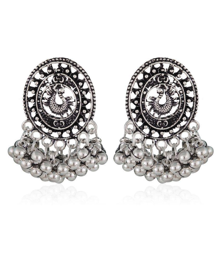Vighnaharta Alloy Mayur(Peacock) Oxidised SilverGerman Stylish Women bollywood Earring for Women and Girls[VFJ1355ERG]