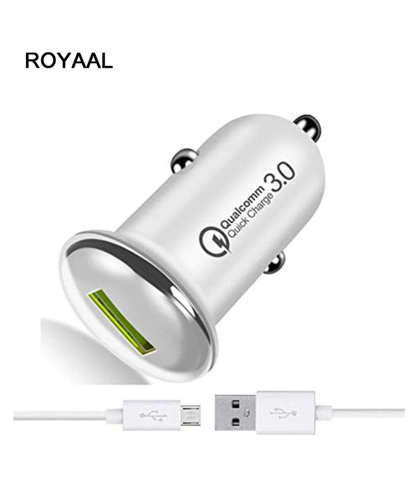 ROYAAL Car Mobile Charger Qualcomm fast 3.0 Multicolour