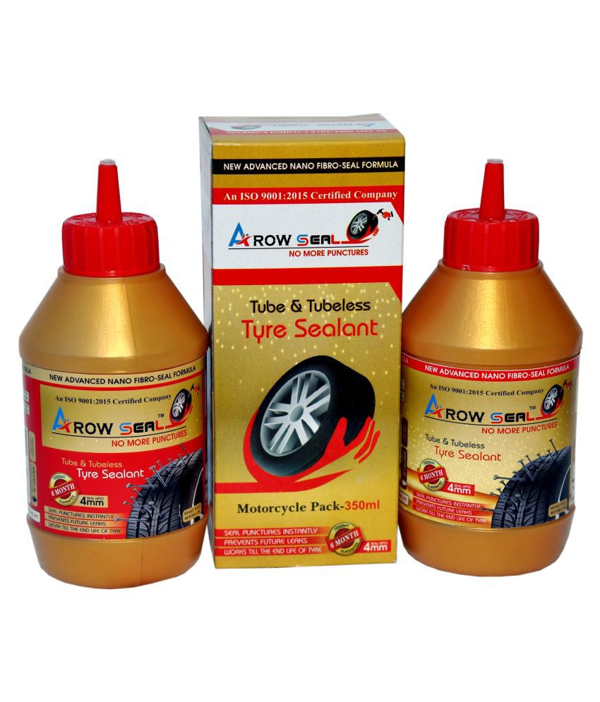 Arowseal Tyresealant (Liquid Latex Rubber) MOTORCYCLE PACK FOR TUBED TYRES Tubeless Tyre Puncture Repair Kit 5 - 10 Strips