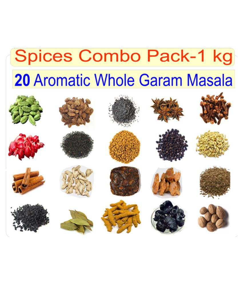 shalini 20 Different Variety of Whole Spices Packets (Total 1kg) 1 kg