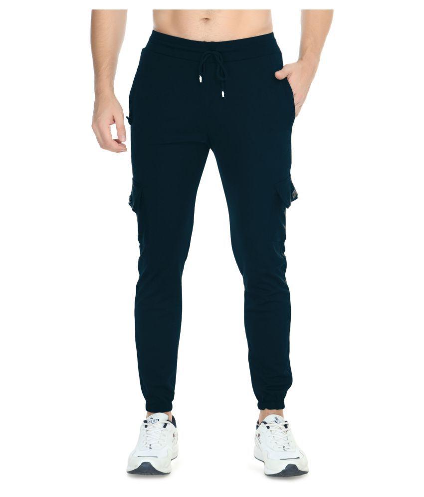 USA Fantasy Solid Navy Blue Track Pants