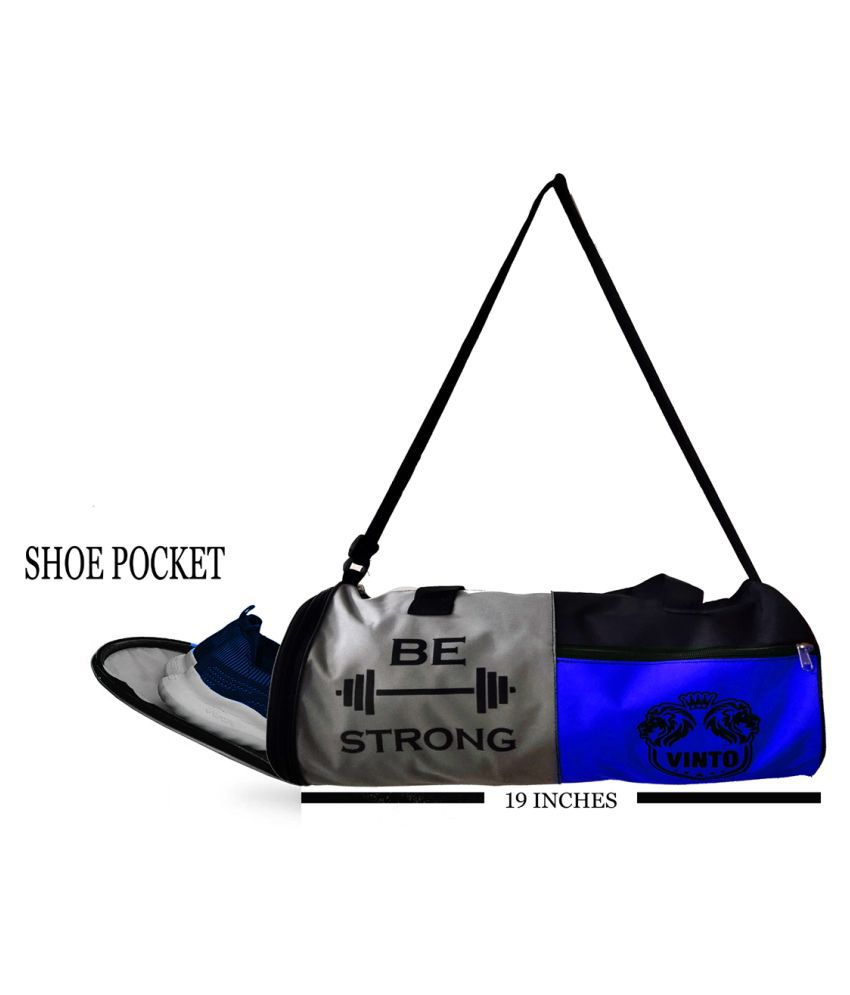 VINTO PRO BE STRONG SERIES GYM BAG WITH SEPARATE SHOE COMPARTMENT