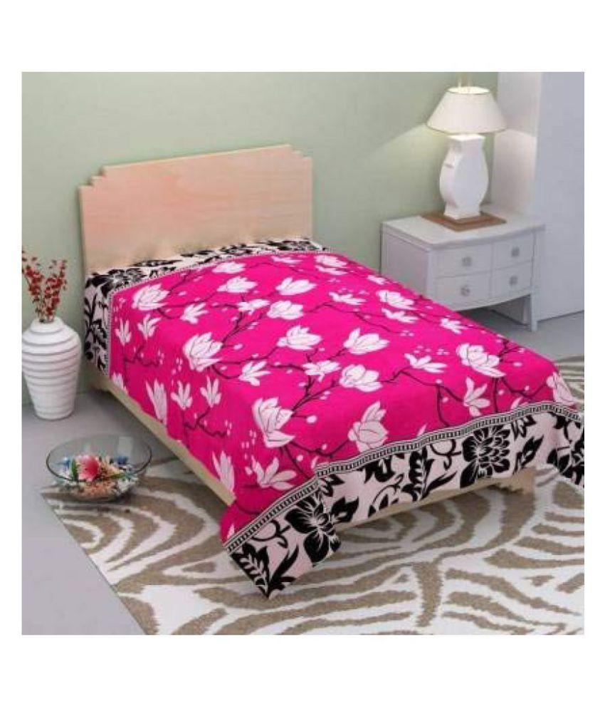 Home Saaj Microfibre Single Bedsheet ( 228 cm x 150 cm )
