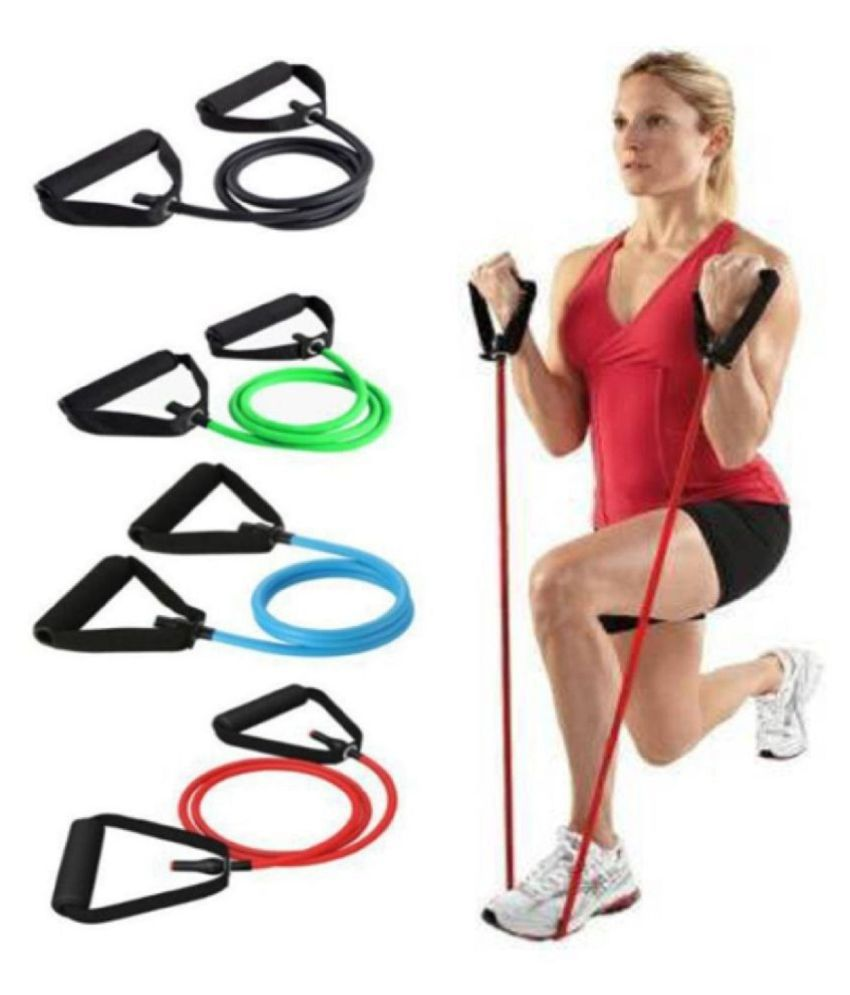 A1VK Single Resistance Tube, Exercise Toning Band Resistance Tube  Multicolor