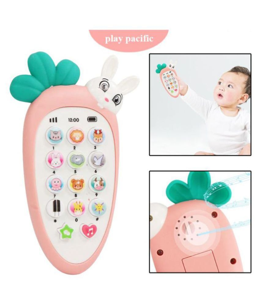 VBE  Smart Phone Cordless Feature Mobile Phone Toys Mobile Phone for Kids Phone Small Phone Toy Musical Toys for Kids Smart Light (Kimi Rabbit Phone)