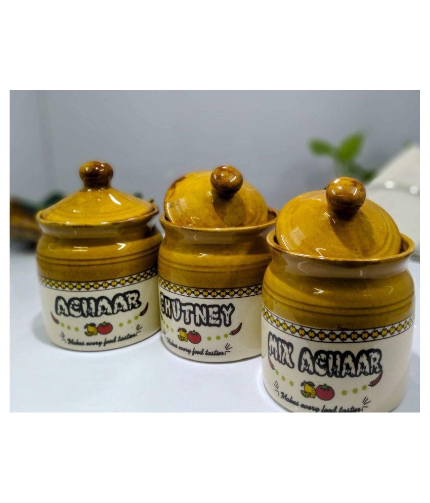 Kittens Ceramic Condiment Set 3 Pcs