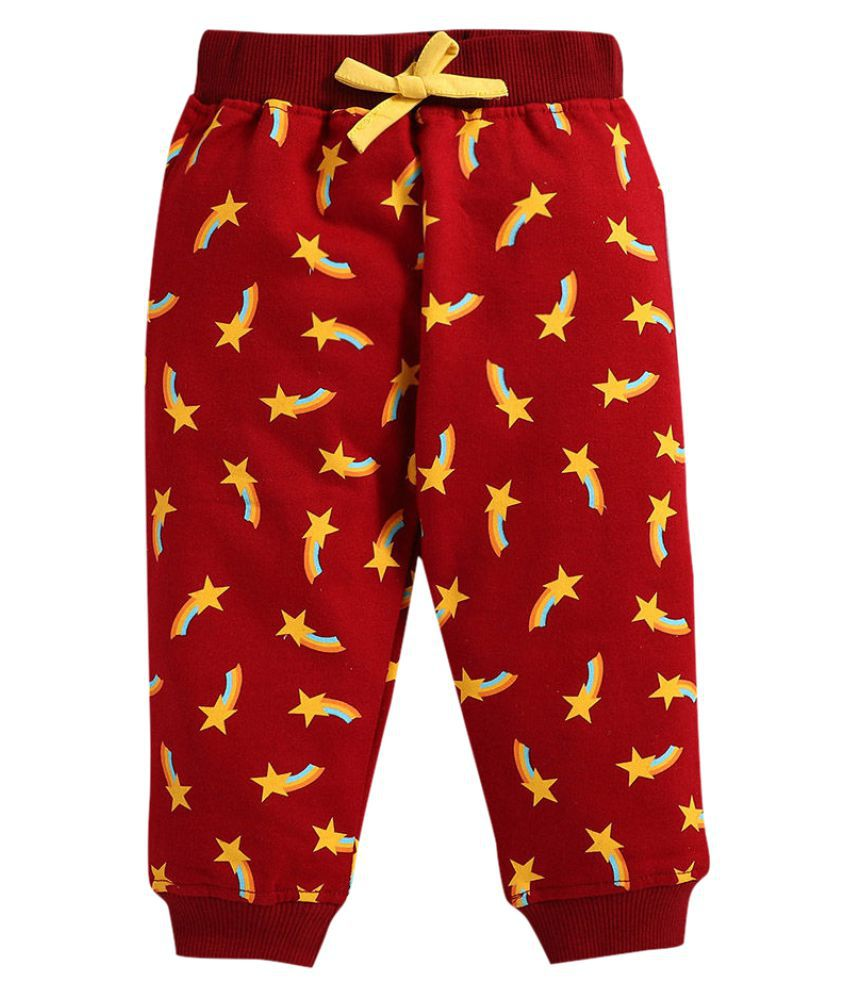 Hopscotch Baby Boy Cotton Art Printed Joggers in  Color For Ages 0-6 Months (NOQ-3221201)