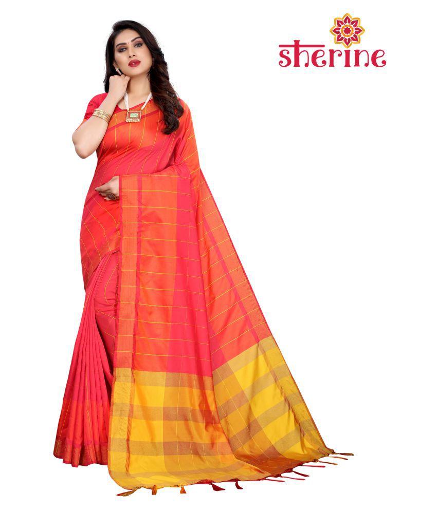 Sherine Pink Silk Blends Saree - Single