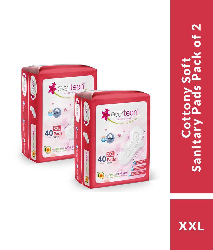 Everteen Cottony Soft XXL 80 Sanitary Pads Pack of 2