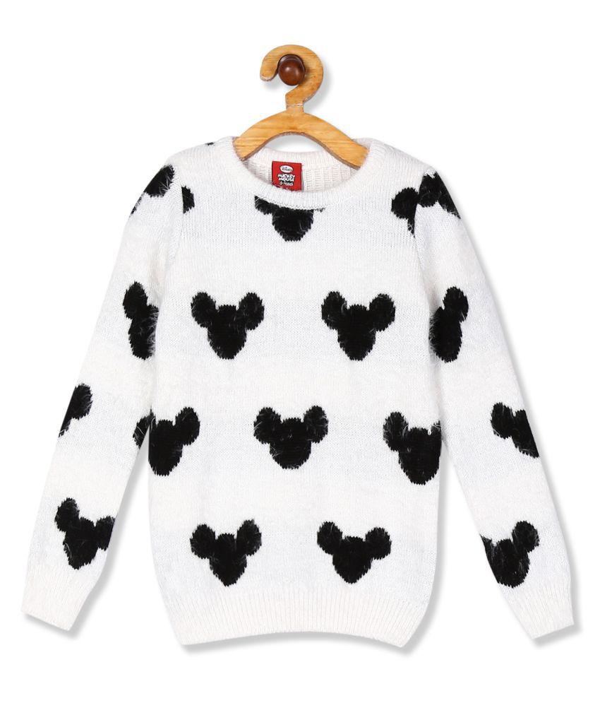 Colt Girls Long Sleeve Mickey Mouse Patterned Sweater
