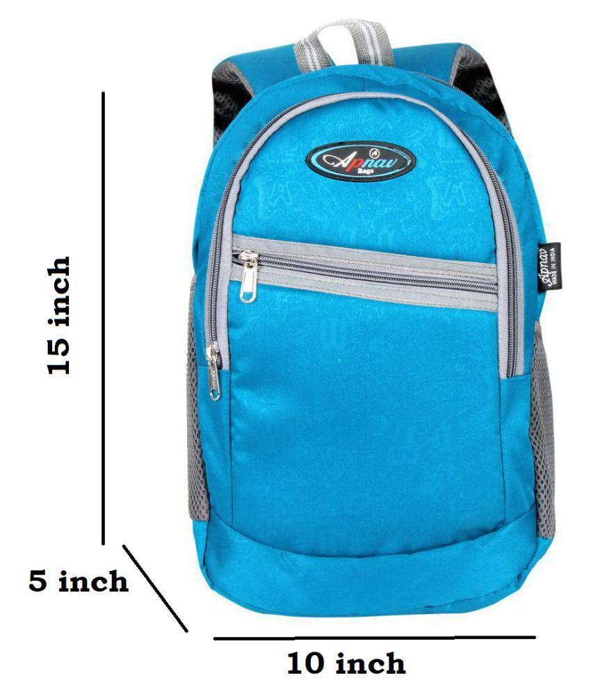 Apnav Blue Polyester College Bag