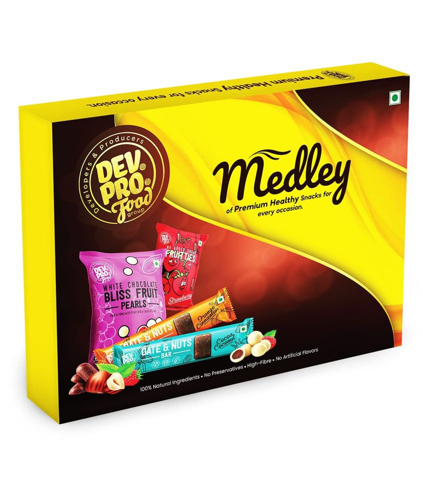 DEV.PRO.Food group Healthy Snacks Assorted Box Assorted Flavours 290 gm Pack of 8