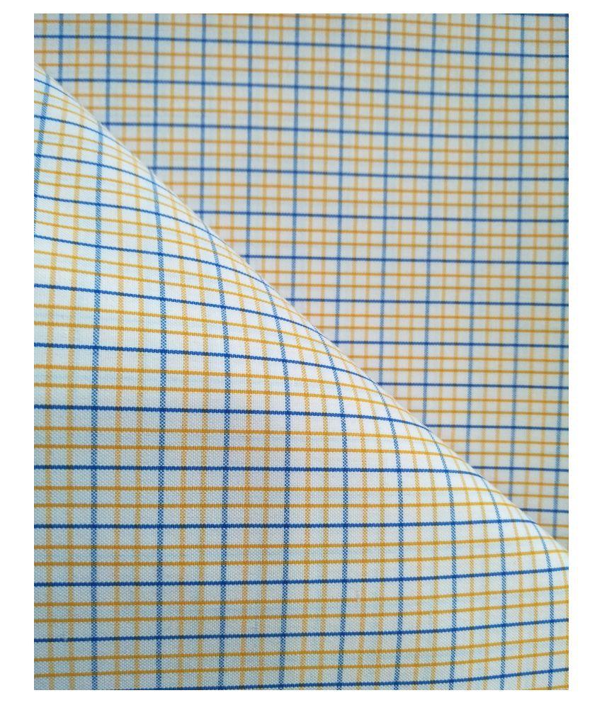 Makhanchor Orange Cotton Blend Unstitched Shirt pc Single