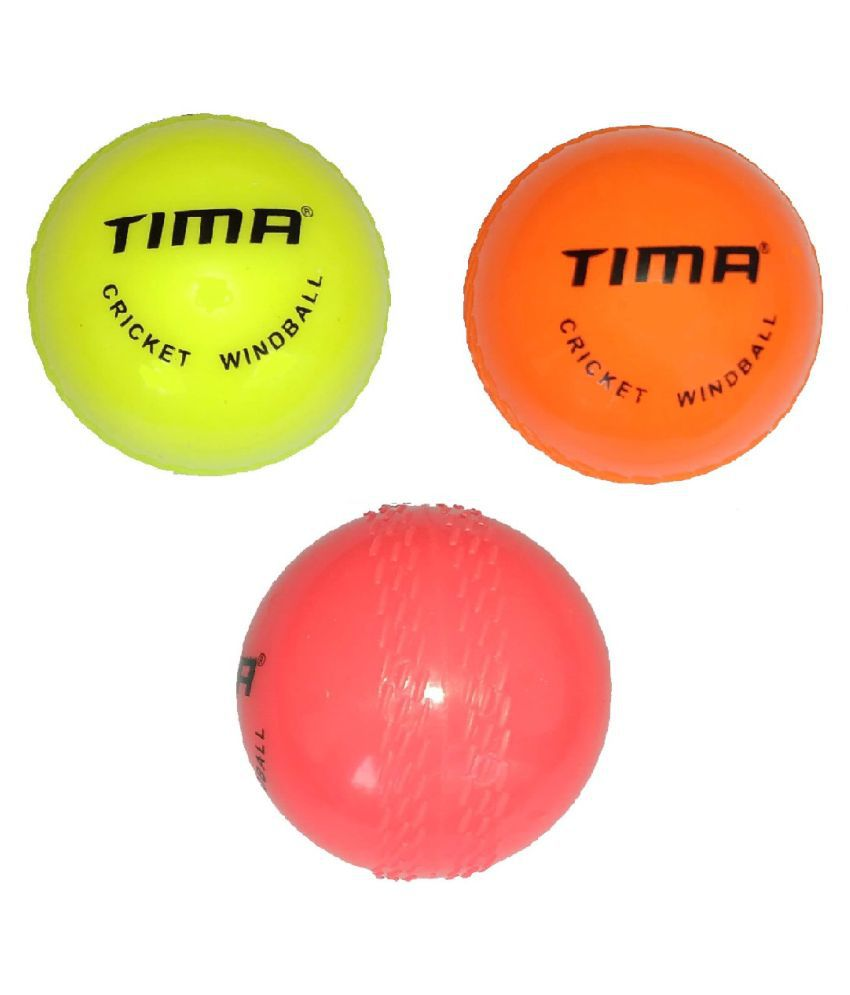 Tima Wind Cricket Ball   Size: Standard  Pack of 3   Multicolored