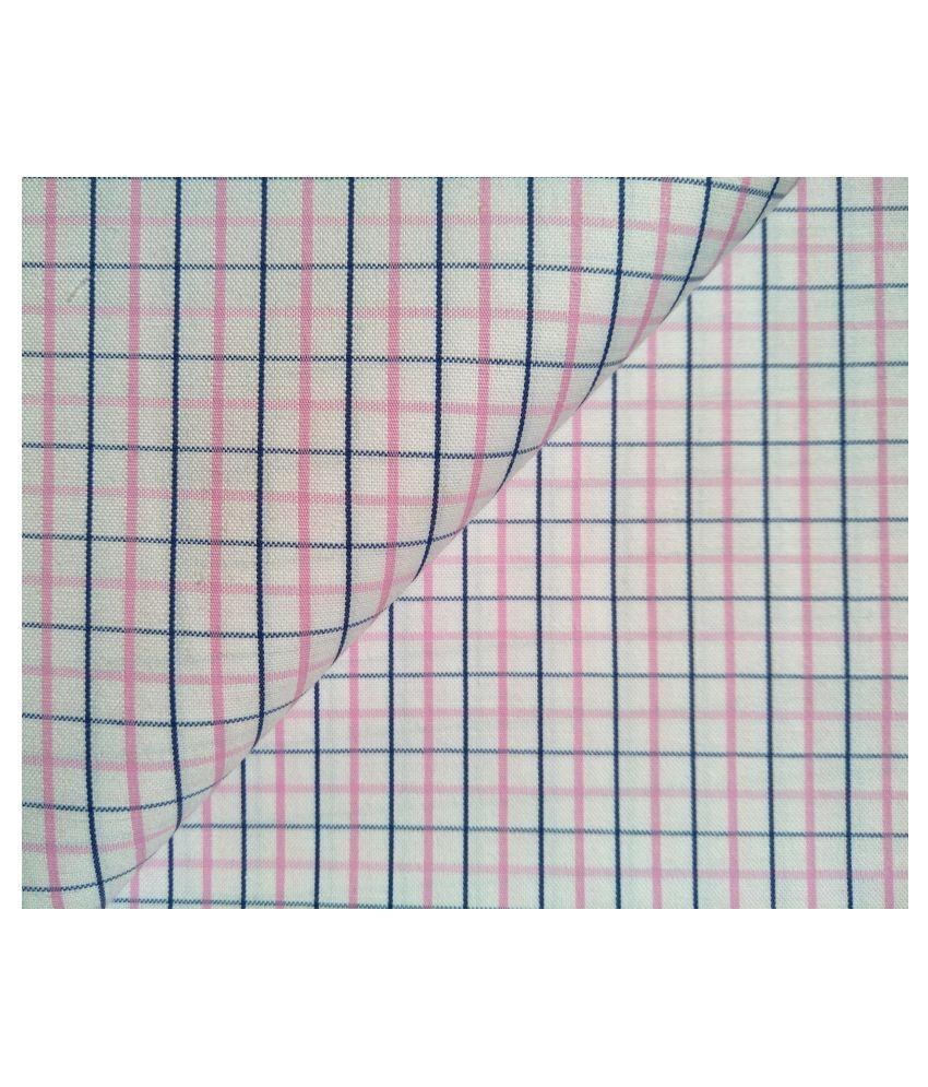 Makhanchor Multi Cotton Blend Unstitched Shirt pc Single