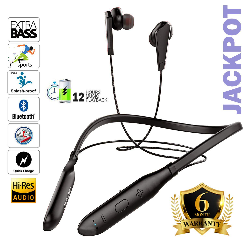 TUNE AUDIO U&I  JACKPOT 12 HOURS MUSIC PLAYBACK IPX4 4D BASS SPORT Bluetooth headphone / Bluetooth earphone,NECKBAND FOR OPPO,VIVO,MI,SONY,REALME,SAMSUNG,ONEPLUS