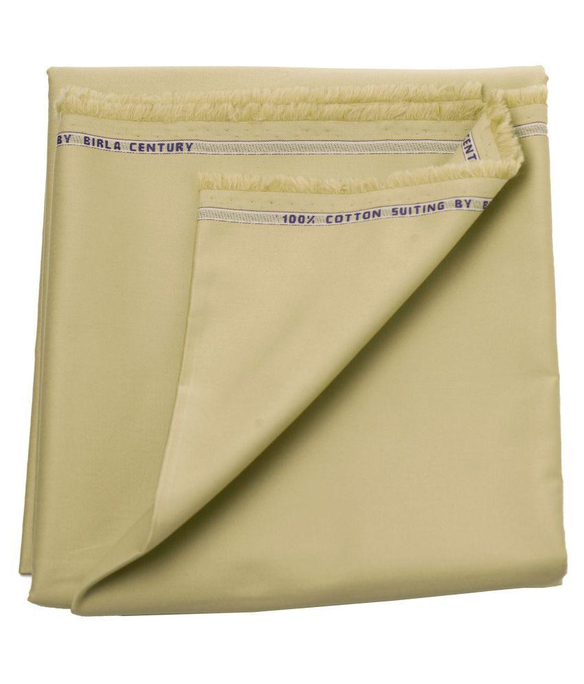 Maharaja Beige 100 Percent Cotton Unstitched Pant Pc